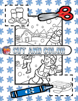 Winter Cut and Color Activity Set