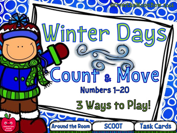 Winter Days Count & Move Activity Pack