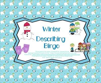 Winter Describing Bingo