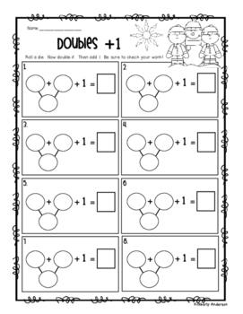 Winter Doubles + 1, -1, +2, -2 Activity