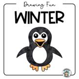 Winter Drawing Fun { Winter Activity & Easy Art Sub Plan}