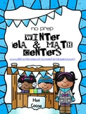 Winter ELA and Math Centers (10 NO PREP Centers)