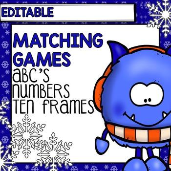 Winter Centers: Editable