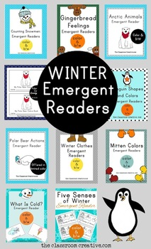 Winter Emergent Reader Mega Bundle (10 books in all)