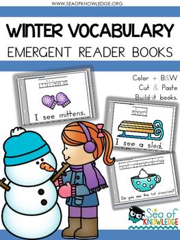 Emergent Reader Winter Vocabulary Books