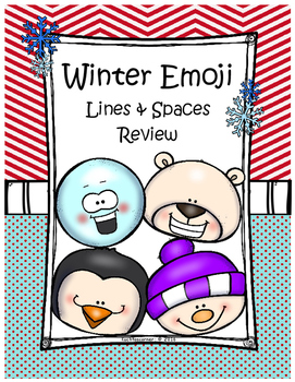 Winter Emoji Treble Clef Lines & Spaces Review - Printable
