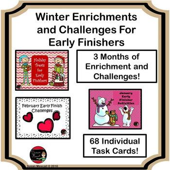 Winter Enrichment and Challenges Bundle
