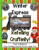 'Winter Express' Retelling Craftivity!  Color & B&W PLUS R