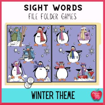 Winter Fest High Frequency Dolch File Folder Game Kit
