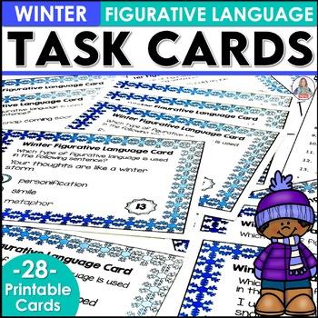 Winter Figurative Language Task Cards