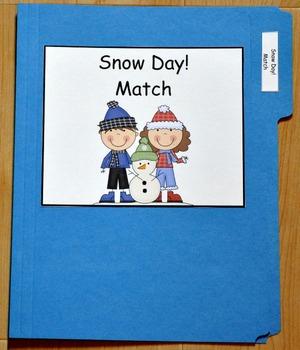 "Winter File Folder Game--""Snow Day Match"""