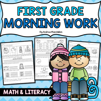 First Grade Morning Work- Winter