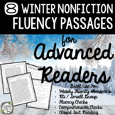 Fluency Passages for Advanced Readers - 8 Winter Themed No