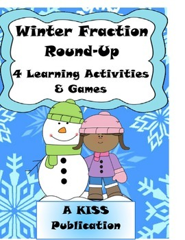 Winter Fraction Round-Up Games and Activities