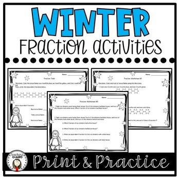 Fraction Task Cards and Worksheets
