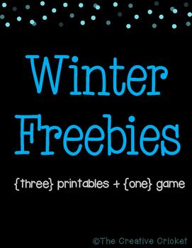Winter Freebies! 3 Printables + 1 Game