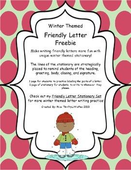 Winter Friendly Letter Freebie