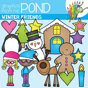 Winter Friends Clipart Set