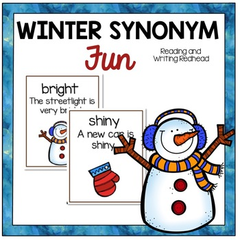#2016DollarDeals - Winter Fun Synonyms - Color Version