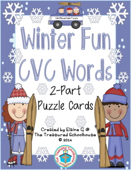 CVC Word Puzzle Cards - Winter