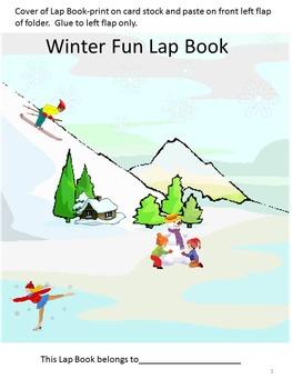 Kindergarten Winter Math & Literacy Centers Cut and Paste