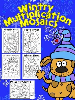 multiplication worksheets multiplication worksheets winter theme winter fun multiplication mosaics color by