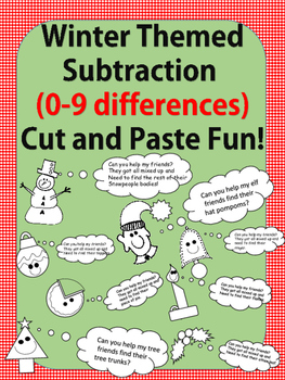 Winter Fun No Prep-Printables! Basic Subtraction Facts 2-9