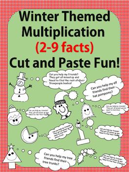Winter Fun No Prep-Printables! Multiplication Facts 2-9 (c