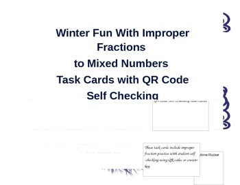 Winter Fun With Improper Fractions