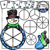 Winter Spinner Games Clipart Bundle