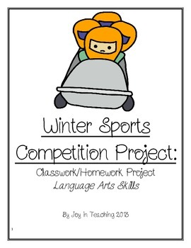 Winter Sports Competition Project- Classwork/Homework Lang
