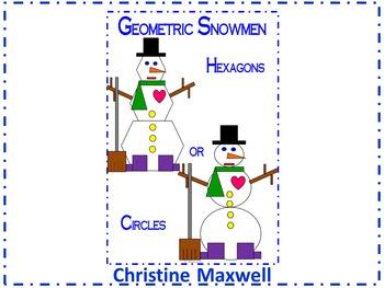 Winter Geometric Snowman 2D Shapes