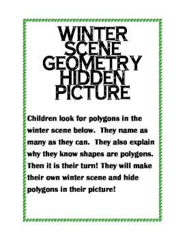 Winter Geometry Hidden Picture