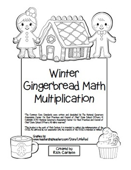 """Winter Gingerbread Math"" Mixed Multiplication - Common Co"