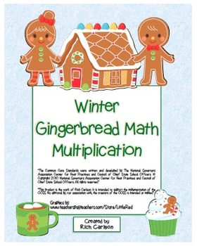 """""""Winter Gingerbread Math"""" Mixed Multiplication - Common Co"""