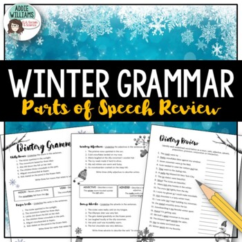 Parts of Speech - Winter Theme