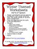 Winter Grammar Worksheets: Parts of Speech
