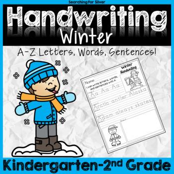 Winter Handwriting No-Prep