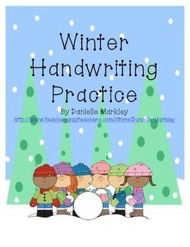 Winter Handwriting Practice