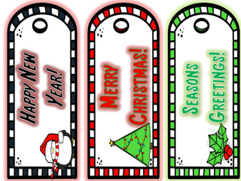 Winter Holiday Bookmarks