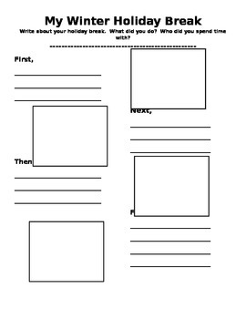 Winter Holiday Break Writing Graphic Organizer