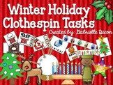 Winter Holiday Clothespin Tasks