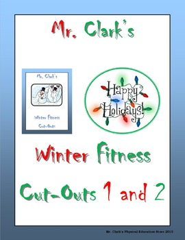 Winter Holiday Fitness Cut-Outs 1 and 2