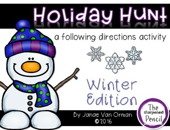 Winter Holiday Hunt ~ Listening and Following Directions