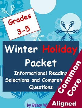Winter Holiday Informational Reading Selections and Questi