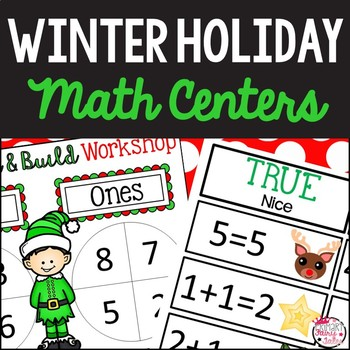 Winter Holiday Math Centers