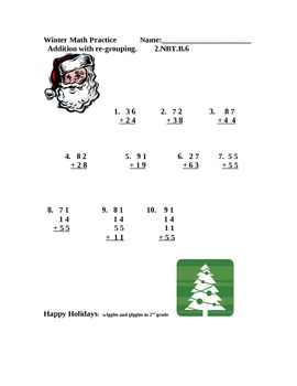 Winter Holiday Math Practice