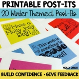 Printable Post-It Notes {Winter Holiday Edition}