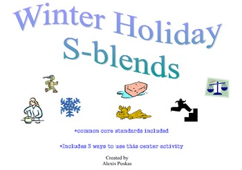 Winter Holiday S-Blends