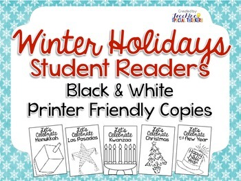 Winter Holiday Student Readers (Black and White Printer-fr